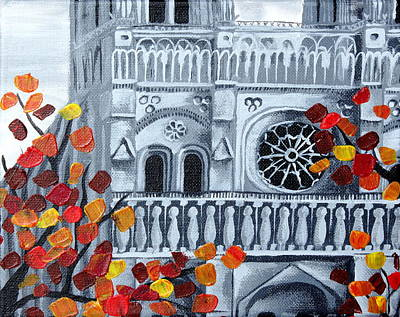 Autumn Painting - Notre Dame by Kayla Mallen