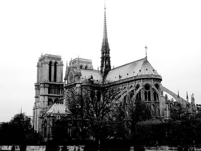 Notre Dame Print by Rita Haeussler