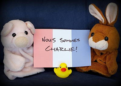 Pig Photograph - Nous Sommes Charlie by Piggy