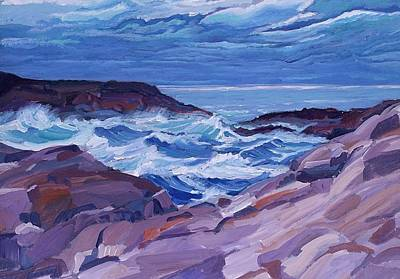 Nova Scotia Coast Print by Janet Ashworth