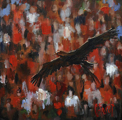 Auburn Painting - Novas Flight by Carole Foret