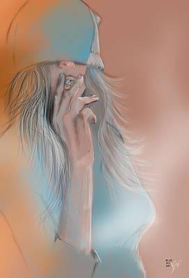 Bluejay Digital Art - November by Jason Longstreet