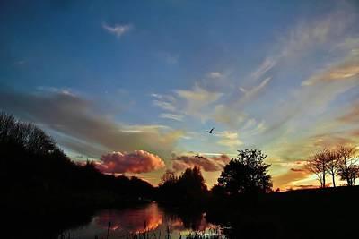 November Sunset Print by Catherine Davies