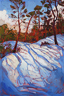 Southern Utah Painting - November Zion by Erin Hanson