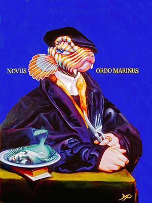 Merman Painting - Novus Ordo Marinus by Patrick Anthony Pierson