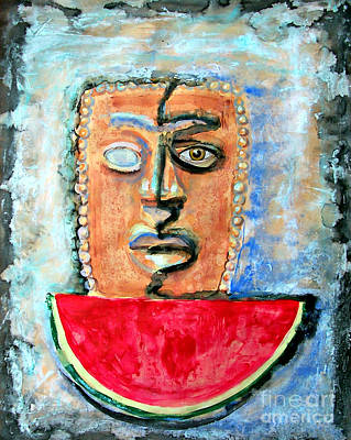 Watermelon Mixed Media - Now And Then Mexican Celebration by Cristiana Marinescu