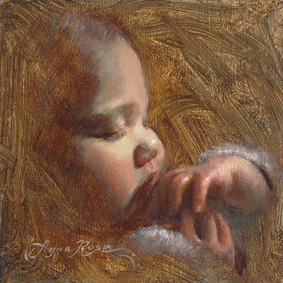Bedtime Painting - Now I Lay Me Down To Sleep by Anna Rose Bain