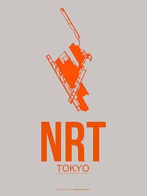 Japan Mixed Media - Nrt Tokyo Airport 1 by Naxart Studio