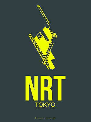 Japan Mixed Media - Nrt Tokyo Airport Poster 2 by Naxart Studio