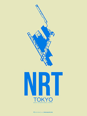 Japan Mixed Media - Nrt Tokyo Airport Poster 3 by Naxart Studio