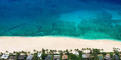 Beach Photograph - Pipeline Reef From Above by Sean Davey