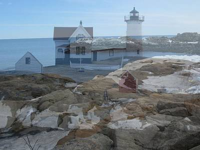 Photograph - Nubble Light Watching Over The Rocky Shore by Patricia Urato