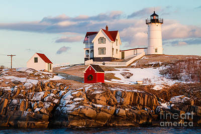 Nubble Light York Maine Print by Dawna  Moore Photography