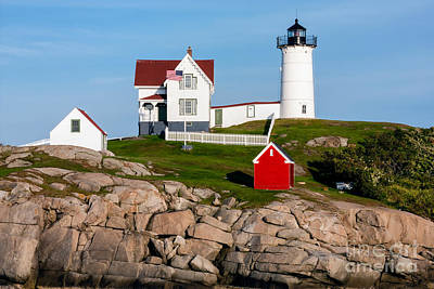 Nubble Lighthouse York Maine Print by Dawna  Moore Photography