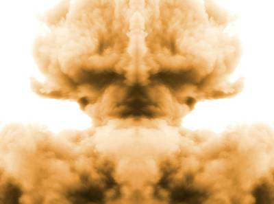 Atom Mixed Media - Nuclear Explosion by Dan Sproul