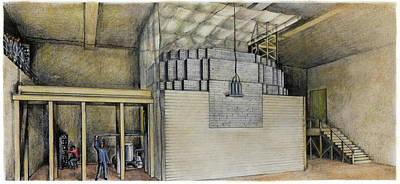 Projects Drawing - Nuclear Reactor, 1942 by Granger