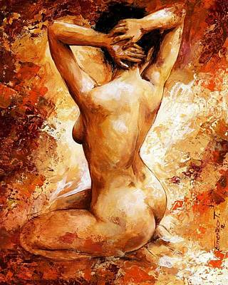 Modelled Painting - Nude 06 by Emerico Imre Toth