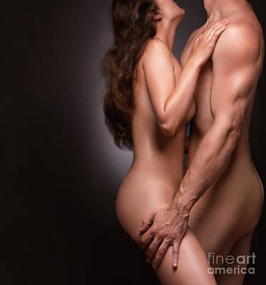 Nude Couple Naked Bodies Print by Oleksiy Maksymenko