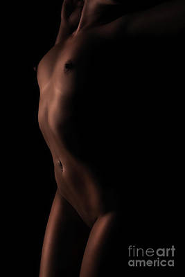 Nude Naked Female Nipple Women Breast Photograph - Nude Figure by Exposed Arts
