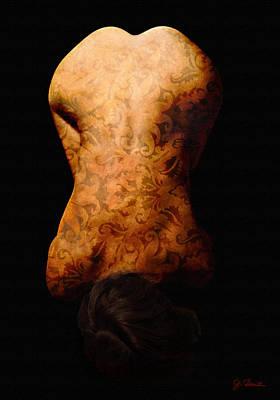 Nude In Brocade Print by Joe Bonita