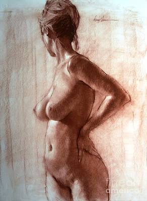 Nude In C Sharp Print by Doyle Shaw
