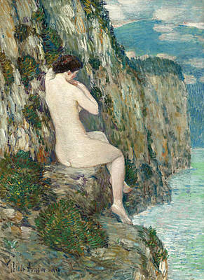 Childe Hassam Painting - Nude. Isle Of Shoals by Childe Hassam