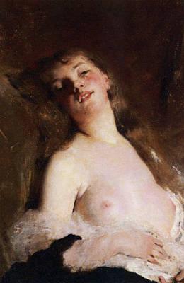 Nude Digital Art - Nude Reverie by Charles Chaplin