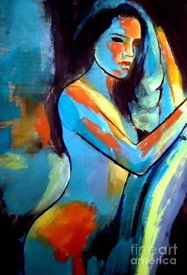 Nude Sexy Girl Print by Helena Wierzbicki