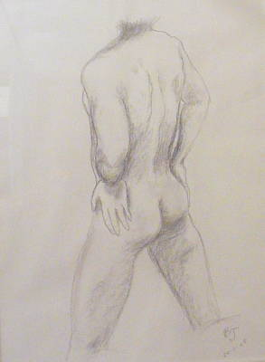 Nude Soccer Player Original by Barbara Jacquin