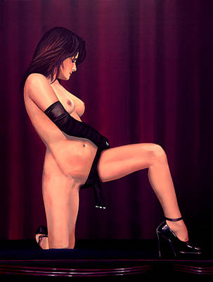 Long Hair Painting - Nude Stage Beauty by Paul Meijering