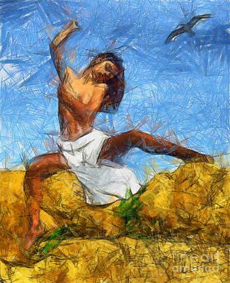 Nude Painting - Nude Study I by George Rossidis