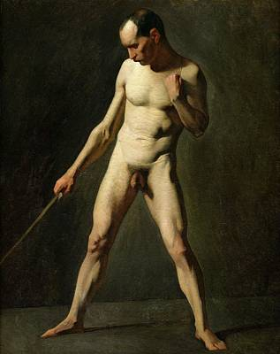 Full-length Portrait Painting - Nude Study by Jean-Francois Millet