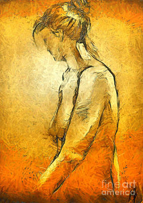 Nudes Drawing - Nude Viii by Dragica  Micki Fortuna