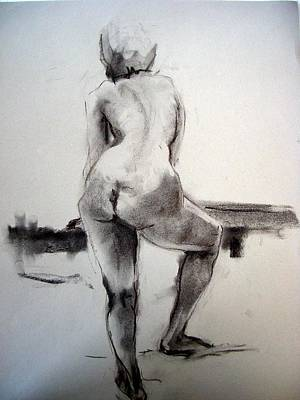 Paper Images Drawing - Nude Woman  by Alfons Niex