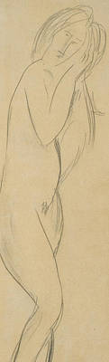 Face Drawing - Nude Woman by Amedeo Modigliani