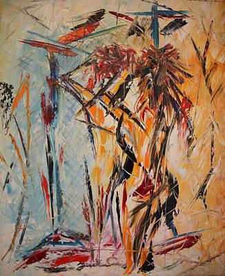 Quadri Painting - Nudo Allo Specchio by Enrico Nicodemo