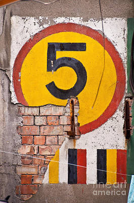 Urban Art Photograph - Number Five by Delphimages Photo Creations