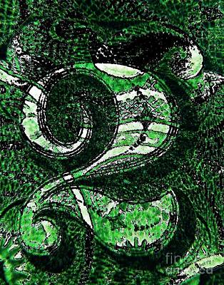 Number Two In Green  Print by Chris Berry
