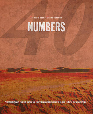 Testament Mixed Media - Numbers Books Of The Bible Series Old Testament Minimal Poster Art Number 4 by Design Turnpike