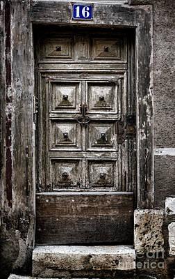 French Door Photograph - Numero 16 by Olivier Le Queinec