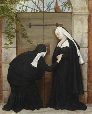 Nuns Under Threat Print by Eugene De Blaas