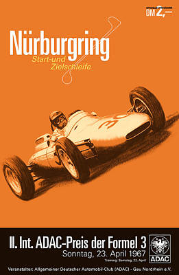 Icon Reproductions Digital Art - Nurburgring F3 Grand Prix 1967 by Georgia Fowler