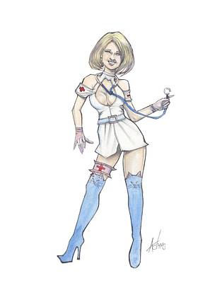 Nurse Tishka Print by Jimmy Adams