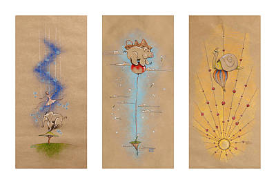 Astronauts Drawing - Nursery Collection 3 by David Breeding