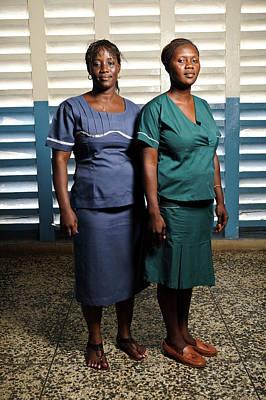 Nurses In Sierra Leone Print by Matthew Oldfield