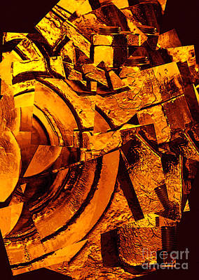 Art And Energetic Photograph - Nuts And Bolts Abstract by Carol Groenen