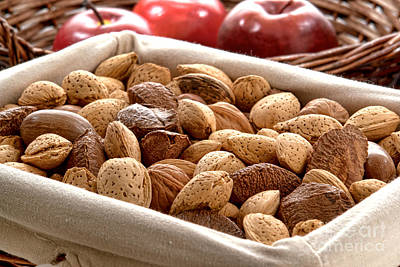 Almond Photograph - Nuts by Olivier Le Queinec