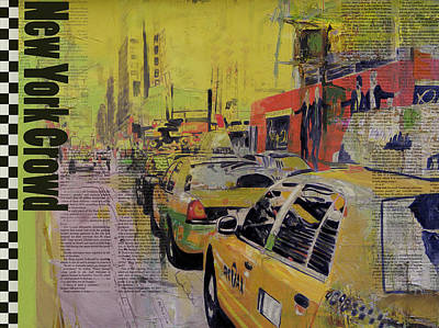 Ny City Collage Print by Corporate Art Task Force