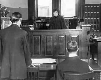 Ny Judge Carroll Mccomas Print by Underwood Archives