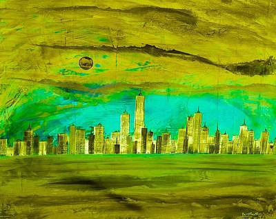 Jay Z Digital Art - Ny Skyline 4 by Barry Knauff